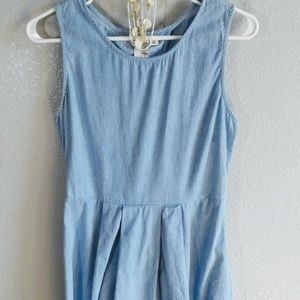 Trendy Light wash denim dress